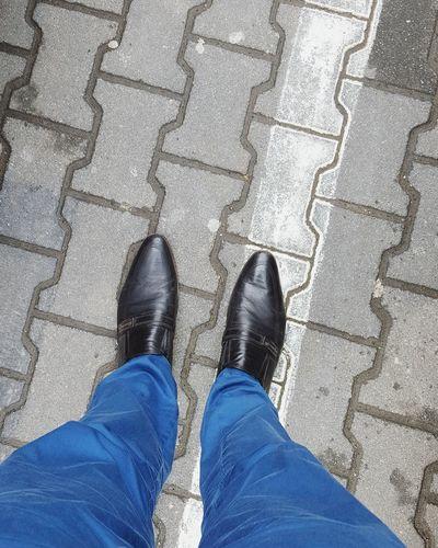 Shoes Standing Elegant Gentlemanstyle