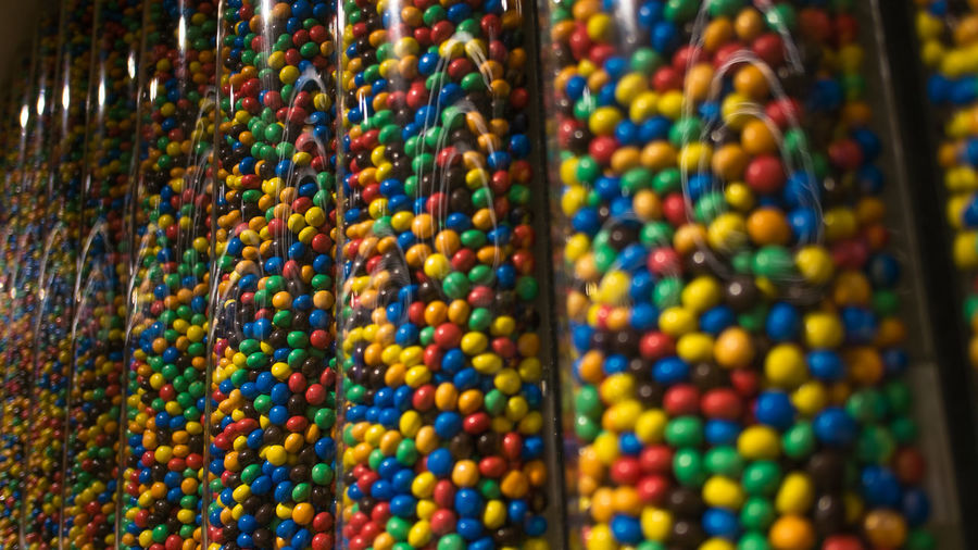 Abundance Close-up Day For Sale Full Frame Indoors  M&m's Mix Yourself A Good Time Multi Colored No People Retail  Sweet Food Variation