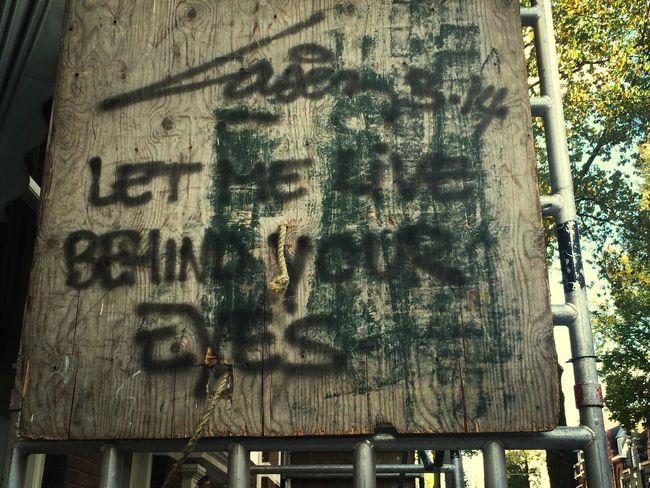 Let Me Live Behind Your Eyes Street Art Graffiti Laser 3.14