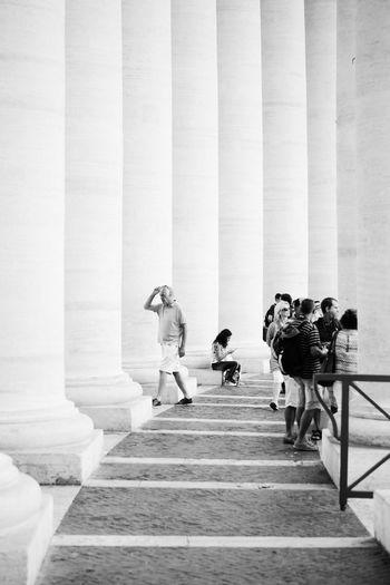 Vatican columns // VSCO Vscocam Black & White Blackandwhite Monochrome X100S Fuji X100s FUJIFILM X100S Streetphoto_bw Streetphotography