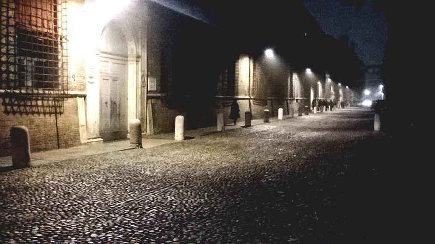 Ferrara- Italy night Street Light