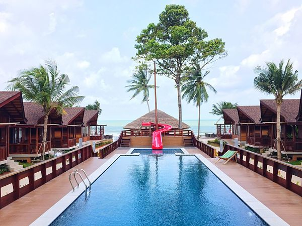 Holiday Vacation Khanom Thailand Travel Pool Swimming Pool Water Sky Tree Architecture Building Exterior Day