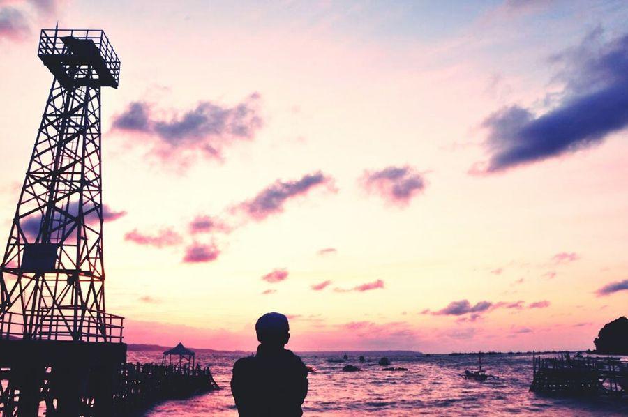 Sunrise Pangandaran Selfportrait Lanscaping