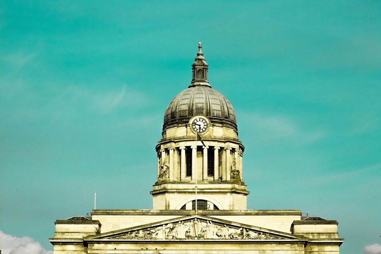 Town hall Architecture Built Structure Religion Building Exterior Place Of Worship Spirituality Sky No People Low Angle View Day Outdoors Dome Travel Destinations EyeEmNewHere Tranquility Nottingham Urban Photography EyeEmNewHere