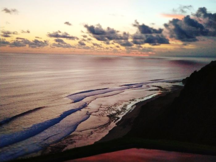 Sky Land Sunset Water Nature Sea Scenics - Nature