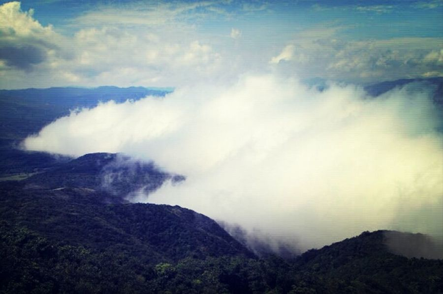 自然風景 山 雲