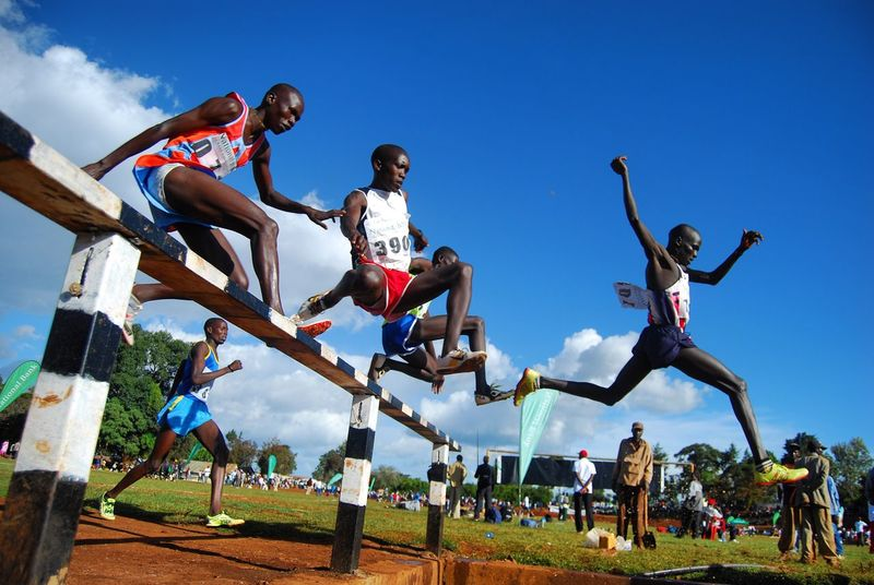 Track race, Iten, Kenya Track Meet Trackandfield Athletics Steeplechase Kenya Kenyans Talent Borntorun Eastafrica Africa Power Grace Running Runners Runnersworld Running Track