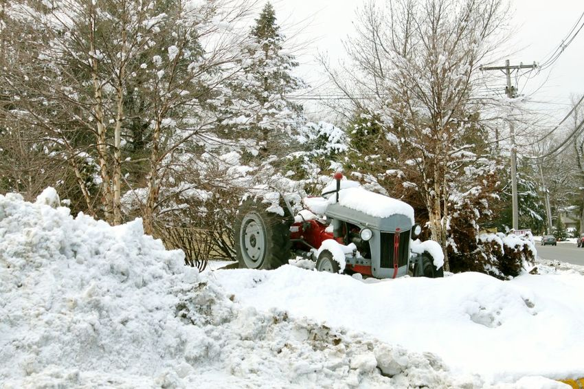 Showcase: February Tractor in the Snow Old Bridge Nj Popular Street Photography EyeEm Gallery Check This Out Popular Photos The Week On Eyem Winter Scene Winter_collection Shades Of Winter