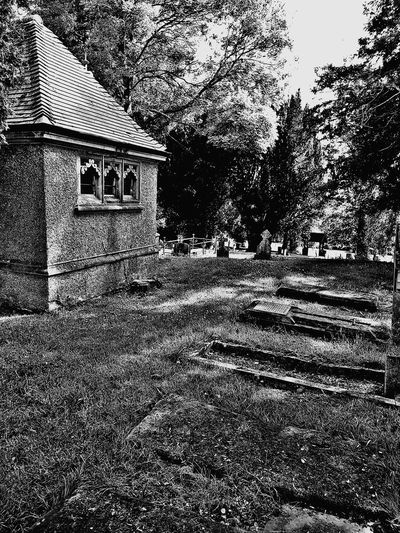 graves Graveyard Gravestones Mausoleum Chapel Abandoned Buildings Day Outdoors No People