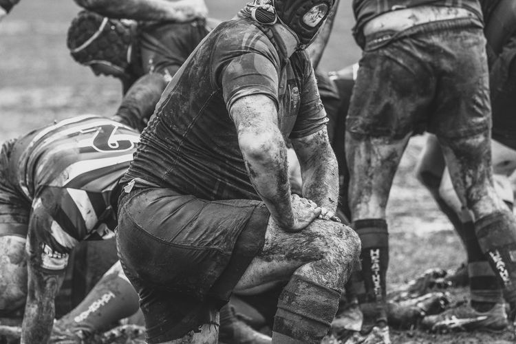 The Fareham Heathens v Tottonians Rugby Black & White Fareham Heathens Rugby Skull Cap TEAMS Totton Tottonians Wet And Muddy, But Stii Here ! Blackandwhite Dirty Mud Muddy Muddy Arms Muddy Thighs Rugby Rugby Teams Shorts Socks Team Wet Wet And Cold This Is Masculinity
