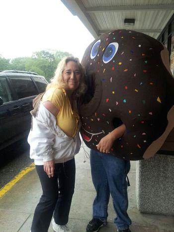 Me & Mr Donut At Dunkin Donuts Lmfao