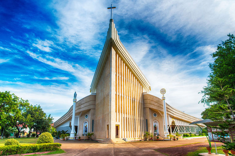 Catholic Christian Church Michael Michaels SakonNakhon ,Thailand St Michaels St. Michael's Cathedral Thailand Tharae Architecture Building Building Exterior Built Structure Historic Landmark Landscape Largest Old Old Buildings Religion Sakonnakhon Tower