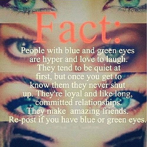 I got green eyes c: Omg Tumblr