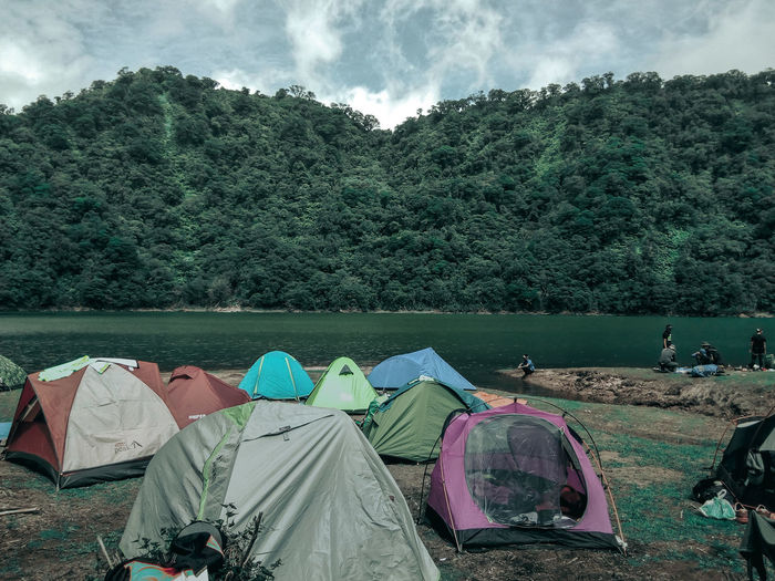 """Happy Campers"""" Nature Photography Adventure Philippines The Great Outdoors - 2018 EyeEm Awards Nature Unwind EyeEm Nature Lover Travel Photography Water Tent Shelter Nautical Vessel Camping Sky"""