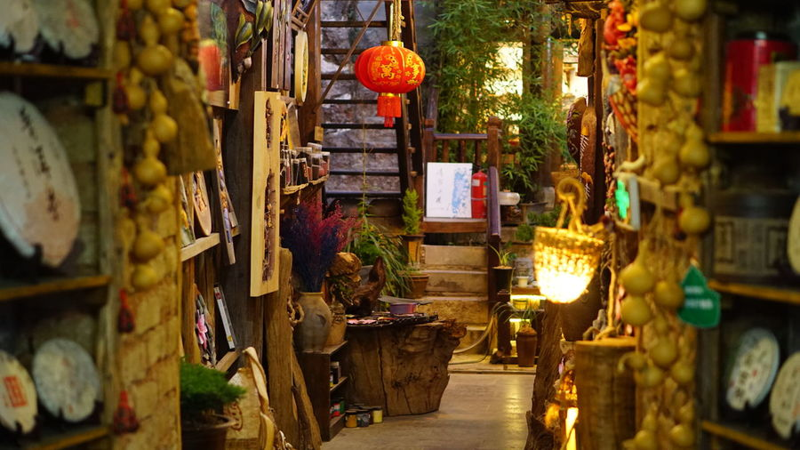 View of decoration store