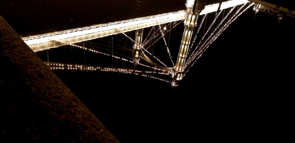 EyeEm Eyeemmarket Eyeemgallery Reflection Light And Shadow Thames River Albertbridge Bridgereflection Reflections In The Water Reflection_collection Albert Bridge London City Girder Water Sky Architecture Built Structure Close-up