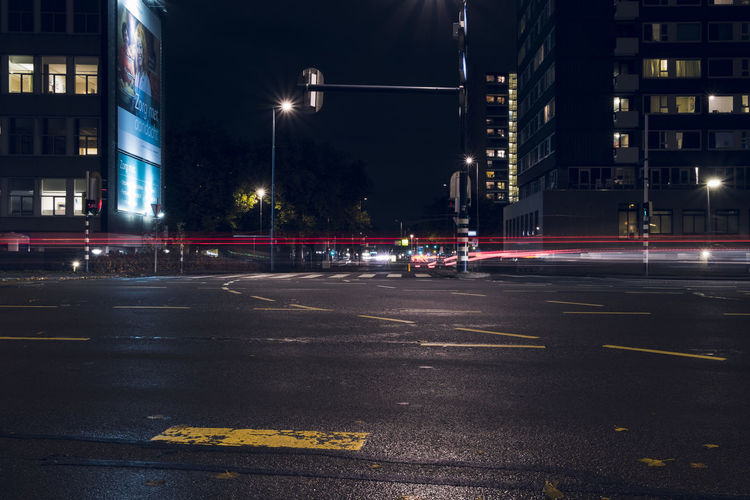 the red line City City Street Illuminated Light Trail Lightpainting Longexposure Night Road Street Street Light Traffic Urban Road