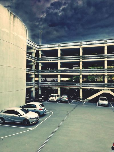 Braunschweig Parkhaus Wolken Himmel Himmel Und Wolken Autos Architecture Car Built Structure City Life Cloud - Sky Building Story IPhone 7 Plus The Architect - 2016 EyeEm Awards