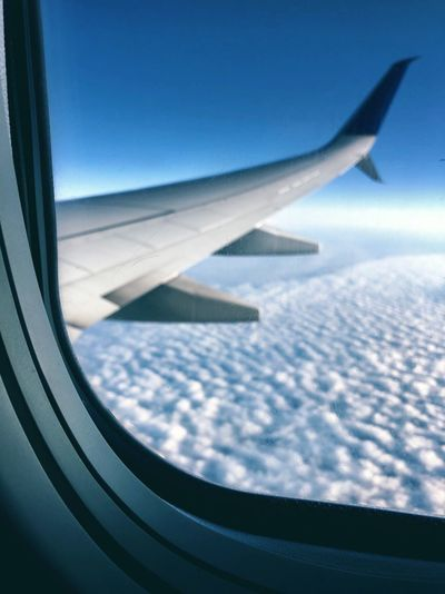 Above Windowview Airplane Air Vehicle Mode Of Transportation Flying Transportation Aircraft Wing Window Travel Journey Transparent Motion Sky Cloud - Sky Glass - Material Scenics - Nature Aerial View Nature