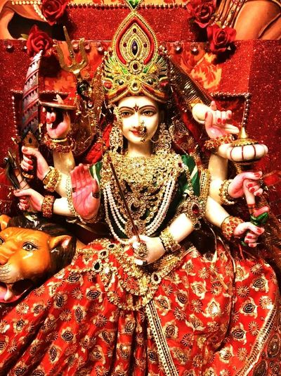 Religion Indoors  Art And Craft Statue Sculpture Idol No People Day Hinduism Devi Durga Durgapuja