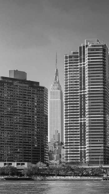 Monochrome Memories of NYC III Architecture Blackandwhite Capital Cities  City City Life Cityscape Cityscapes Clear Sky Empire State Building Ensemble Monochrome Monochrome Photography Office Building Perspectives Skyscraper Tall Tall - High Tower Travel Destinations Urban Skyline Waterfront An Eye For Travel