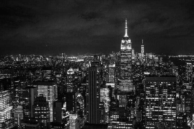 Empire State Building New York Architecture Building Building Exterior Built Structure City Cityscape Illuminated Night Office Skyscraper
