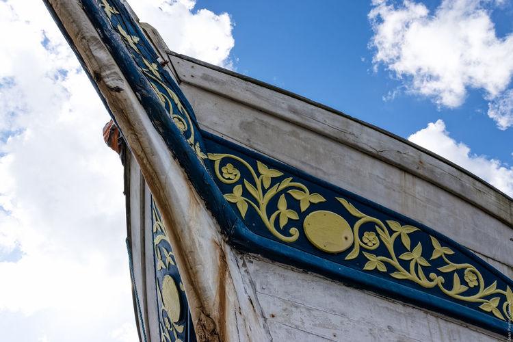 Goélette inscrite à l'inventaire des Monuments Historiques, qui va être remise en état au chantier du Guip. Architectural Feature Architecture Blue Boat Brest Brest 2016 Brest2016 Fêtes Maritimes Low Angle View Sailing Ship Schooner Ship Sky