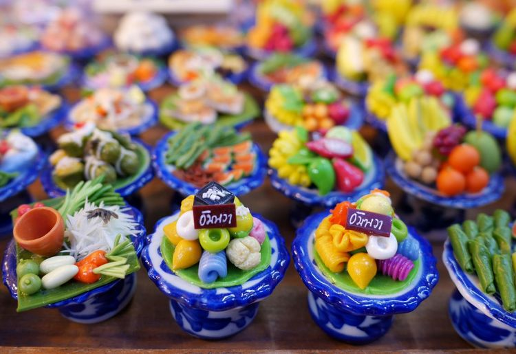 High angle view of multi colored vegetables on table