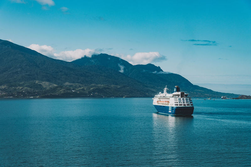 Blue Cruise Cruise Ship Island Lifestyles Mountains Ocean Sunny Travel Traveling Vacation VSCO