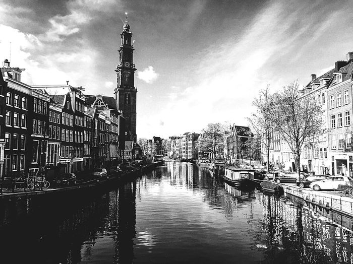 Amsterdam Holland Water Cannal Black And White Blackandwhite Photography The Great Outdoors With Adobe Fine Art Photography Monochrome Photography TakeoverContrast Enjoy The New Normal The Great Outdoors - 2017 EyeEm Awards The Week On EyeEm An Eye For Travel