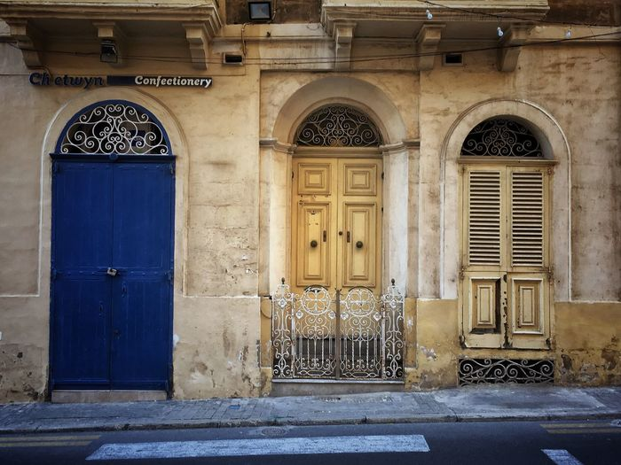 Doors and Window Architecture Built Structure Door Building Exterior No People Entrance Outdoors Day Arch Travel Photography Malta Travel Photographer EyeEmNewHere IPhoneography Malta♥