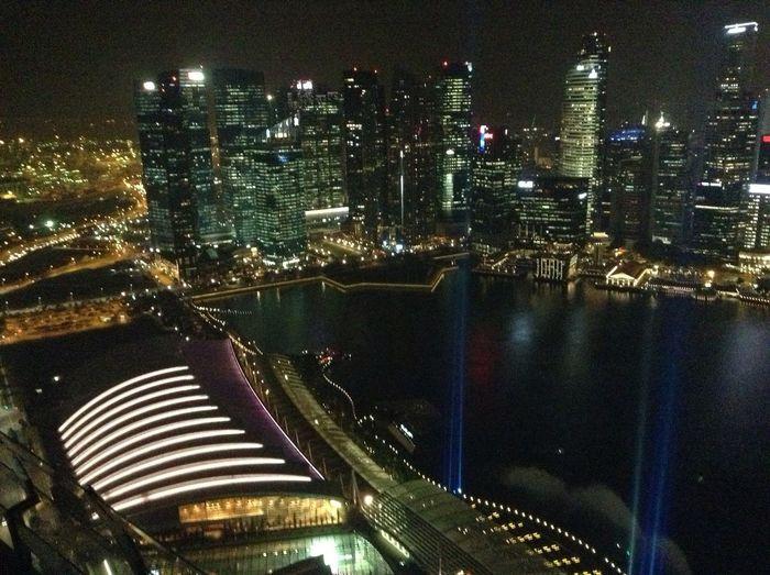 Singapore night view:-)