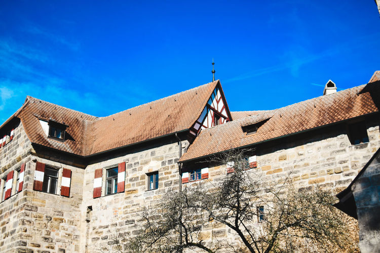 German Castle Architecture Built Structure Building Exterior Sky Blue Building Low Angle View Nature Sunlight No People Day Residential District Outdoors History Old The Past House Old Castle Castle Germany German Tourism Tourism Blue Sky