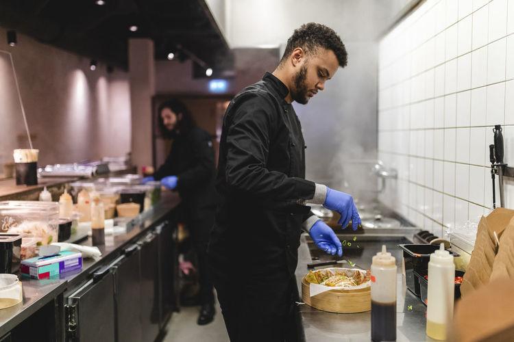 Man working in restaurant