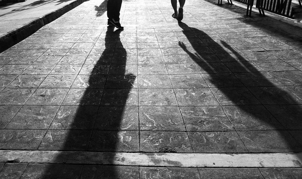 Trying again Sunlight Shadow Real People