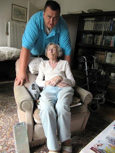 Cute Grandma Grandmother Grandparents Grandson Grandson And Grandma Old Woman Person