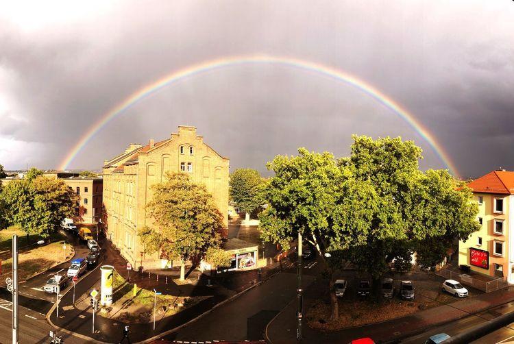 Regenbogen Rainbow Architecture Tree Sky Built Structure Cloud - Sky Plant First Eyeem Photo