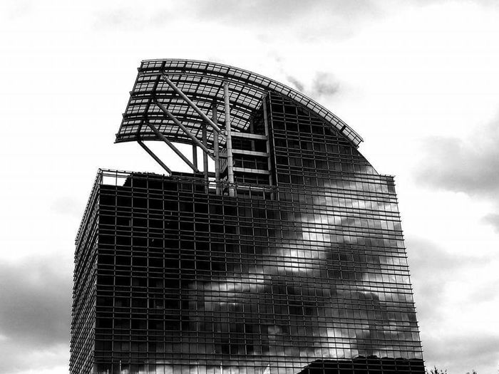 Architecture Sky Built Structure Cloud - Sky Outdoors City No People Day Building Exterior Business Finance And Industry Buckhead, Atlanta Buckheadatlanta Black And White Photography Buildings