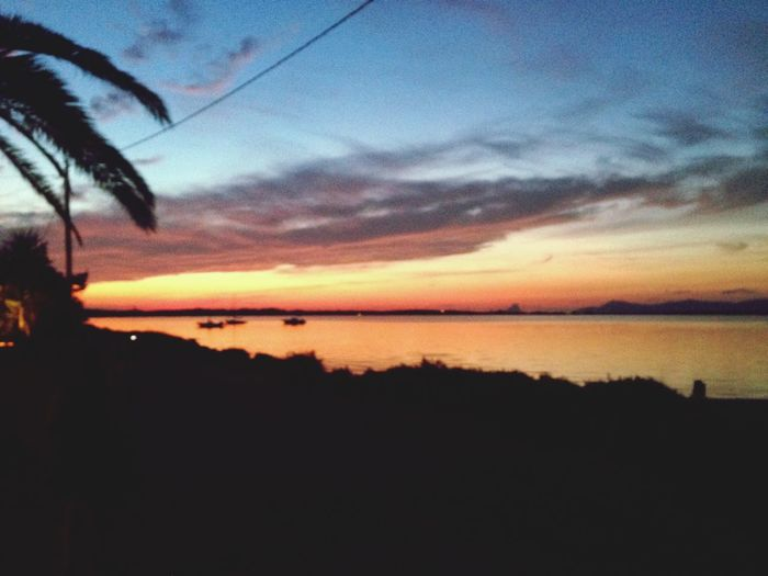 SPAIN Formentera Sunset Silhouette Tranquil Scene Beauty In Nature Tranquility Scenics Sky Sea Nature Water Cloud - Sky