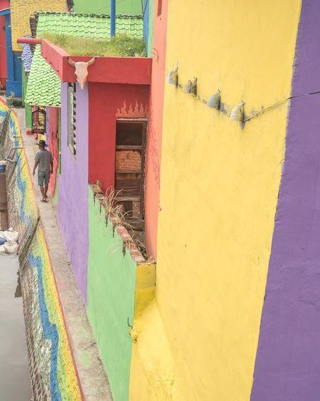Building Exterior Multi Colored Architecture Built Structure Yellow Outdoors Day Colored Painted Banyuwangi Jawatimur Kalilo kalilobanyuwangi First Eyeem Photo