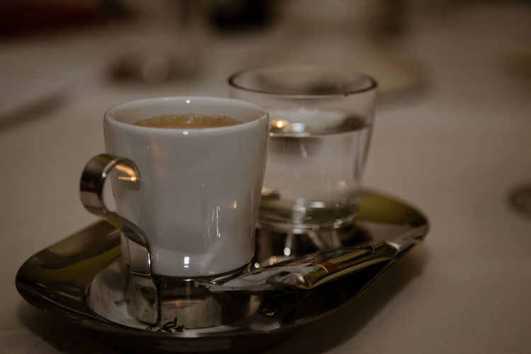 Espresso Close-up Coffee Coffee - Drink Coffee Cup Crockery Cup Drink Focus On Foreground Food Food And Drink Freshness Glass Indoors  Mug No People Non-alcoholic Beverage Refreshment Saucer Selective Focus Spoon Still Life Table