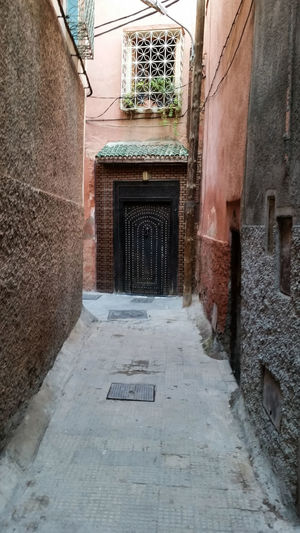 Arch Architecture Building Exterior Built Structure Day Diminishing Perspective History Leading Long Marrakech Marrocco Narrow No People Steps The Way Forward Town Walkway Wall Wall - Building Feature