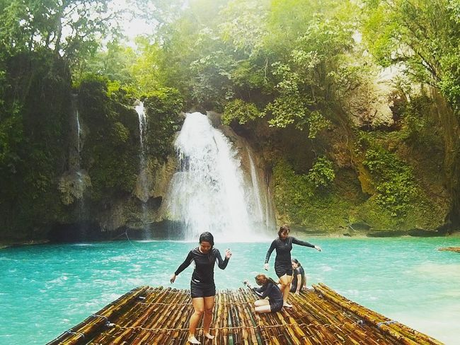 Play Tree Day Real People People Water Outdoors Sunlight Togetherness Full Length Adult Only Men Men Adults Only Nature Beauty In Nature Sky Philippines Adventure Travel Destinations Summer Scenics Waterfalls
