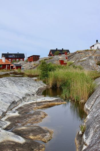Stockholms skärgård Archipelago Huvudskär, Stockholm Archipelago Nature Reserve Architecture Beautufulwiew Building Building Exterior Built Structure Clear Sky Day Flowing Water House Iland Land Nature Plant River Rock Scenics - Nature Sky Skärgårdsmiljö Solid Stockholms Skärgård Stugor Water