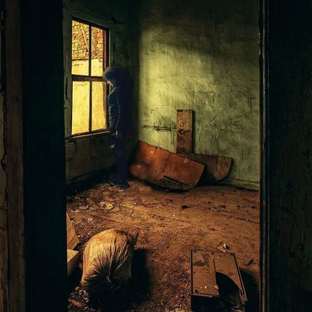 Indoors  Window Abandoned House Home Interior Messy Obsolete Damaged Old Chair Run-down Built Structure Deterioration Dirty Architecture Old Ruin Ruined Weathered Day