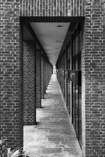 Düsseldorf, Germany, Altstadt Architecture Black & White Black And White Black&white Blackandwhite Built Structure Colonnade Deutschland Düsseldorf Germany In A Row NRW Perspective Perspective SW Wall The Architect - 2016 EyeEm Awards The Graphic City