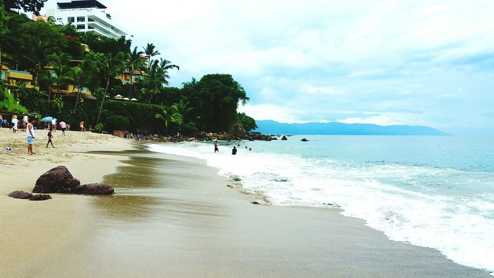 Puertovallartajalisco Beach Sea Tranquility Travel Destinations Cloud - Sky Beauty In Nature Nature Vacations Relaxation Tourism Sky