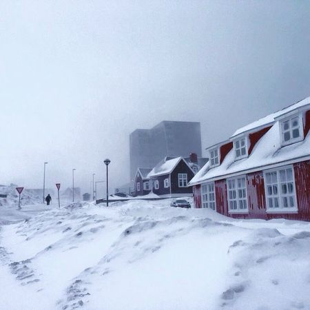 Wonderfuld Greenland Stormy Day Architecture Architecturephotography Taking Photos Walking Around The City  Walking Alone... Walking On The Street Walking In The Snow