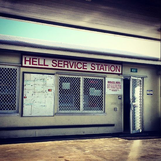 Where I get gas... in Hell! Hell HighwayToHell Gas Gasstation picfun justforfun picoftheday