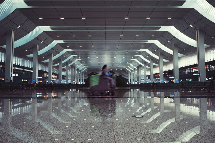 Modern Reflection The Way Forward Surface Level City Life Architecture Full Length Architecture Modern Reflection The Way Forward Surface Level Person City Life Long Work Lanzhou Lanzhou West Train Station China City Life Railroad Station Architecture